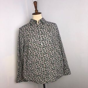 Talbots Floral Button Down Top
